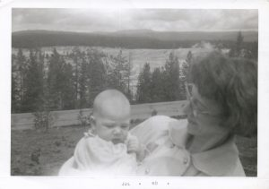 Linda at 6 months old and her mother at Yellowstone NP